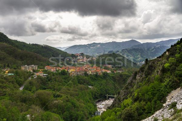 Stock fotó: Toszkána · Olaszország · felhők · erdő · természet · tájkép