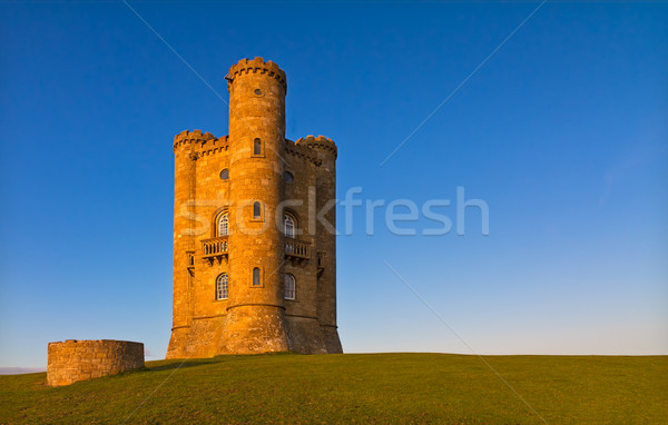 Broadway Tower before sunset, Cotswolds, UK Stock photo © fisfra