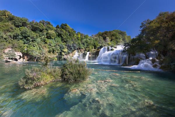 водопада парка Хорватия воды пейзаж деревья Сток-фото © fisfra
