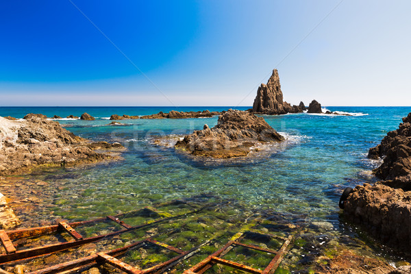 Tengeri kilátás park Spanyolország természet tájkép tenger Stock fotó © fisfra