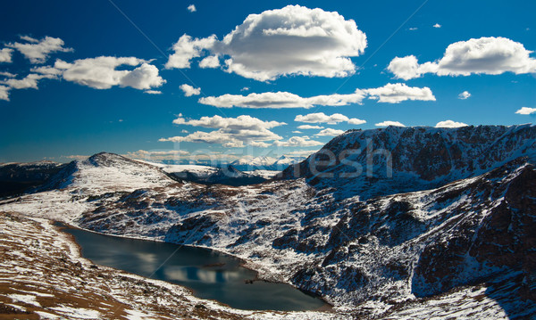 Snow-capped mountains, Beartooth Pass close to Yellowstone National Park, Wyoming,USA Stock photo © fisfra