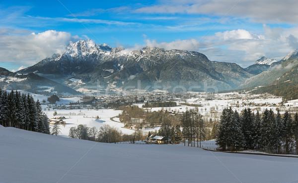 Wintery Montain Range in Tyrol, Saalfelden, Austria Stock photo © fisfra