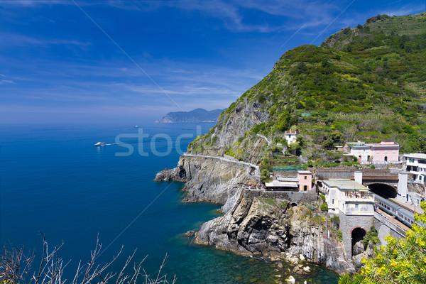 Tengerpart vasútállomás Olaszország víz óceán utazás Stock fotó © fisfra