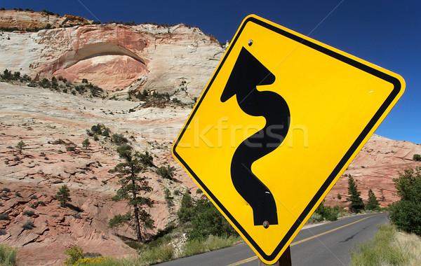 Carretera signo tráfico parque EUA sol calle Foto stock © fisfra