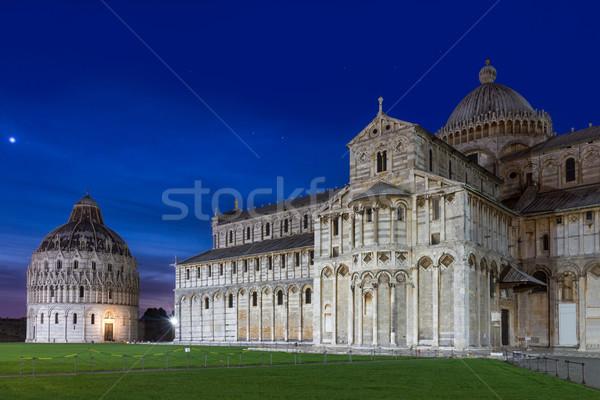 купол закат Тоскана Италия лет синий Сток-фото © fisfra