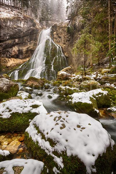 Gollinger Waterfall at wintertime, Austria Stock photo © fisfra
