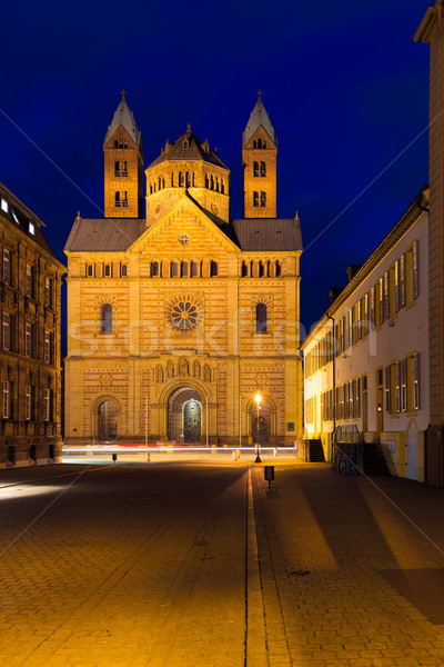 Speyer cathedral at dawn, Pfalz, Germany Stock photo © fisfra