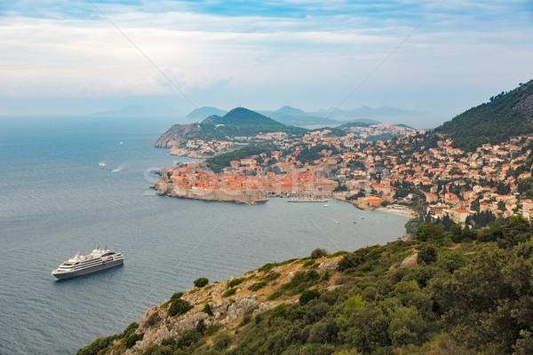 Historic city of Dubrovnik at Adriatic Sea, Croatia Stock photo © fisfra