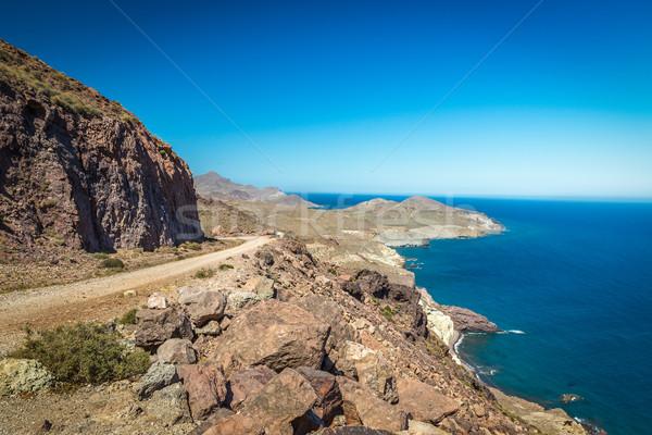 Part Spanyolország égbolt víz természet tájkép Stock fotó © fisfra