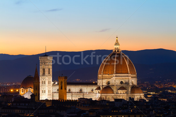 Florence Cathdral at twilligt, Tuscany, Italy Stock photo © fisfra
