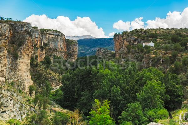 Canyon at Alhama de Granada at summertime, Andalusia, Spain Stock photo © fisfra