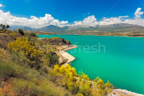 Lake Vinuela at a sunny day, Andalusia, Spain Stock photo © fisfra