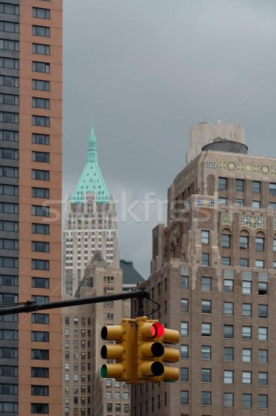 Trafik ışıkları New York Manhattan ABD kırmızı trafik Stok fotoğraf © fisfra