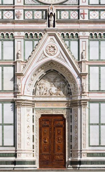 Entrance of Basilica of Santa Croce, Florence, Italy Stock photo © fisfra