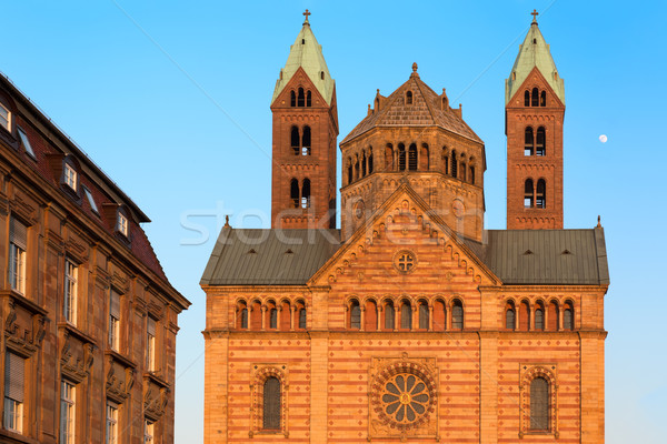 Speyer Cathedral with blue skies, Germany Stock photo © fisfra