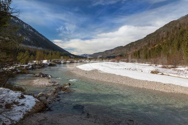 Valle fiume alpi inverno blu bella Foto d'archivio © fisfra