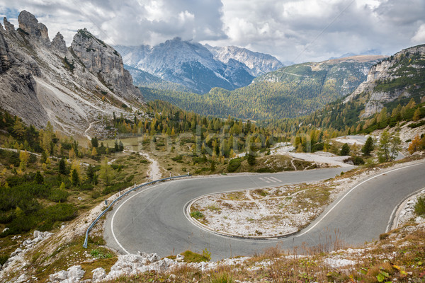 Pass road in Tre Cime National Park, Dolomites, Italian Alps Stock photo © fisfra