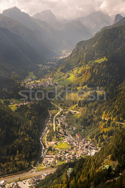 Mountain valley, Dolomites, Italy Stock photo © fisfra