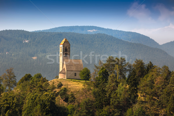 Hilltop church in South Tyrol, Italy Stock photo © fisfra