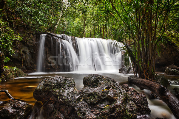 водопад Вьетнам водопада пейзаж рок реке Сток-фото © fisfra