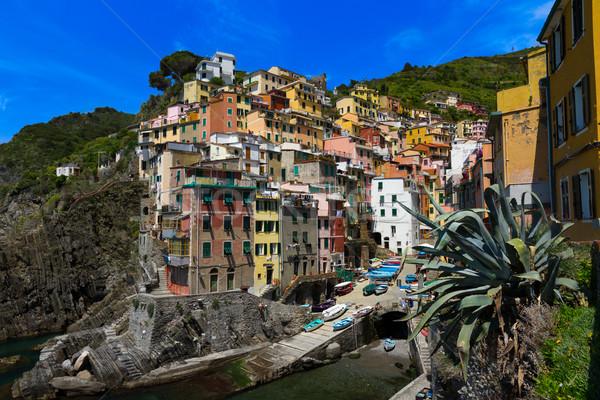 Harbor view in Riomaggiore, Cinque Terre, Italy Stock photo © fisfra
