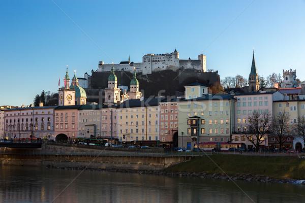 крепость реке Австрия здании город Церкви Сток-фото © fisfra
