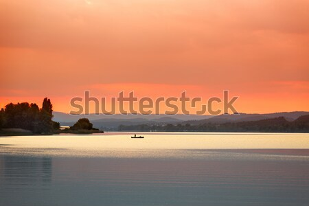 Sunset at Lake Constance (Bodensee) near Reichenau, Germany Stock photo © fisfra