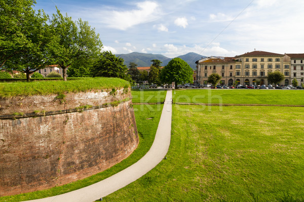 Stock photo: Historic town wall in Lucca, Tuscany, Italy