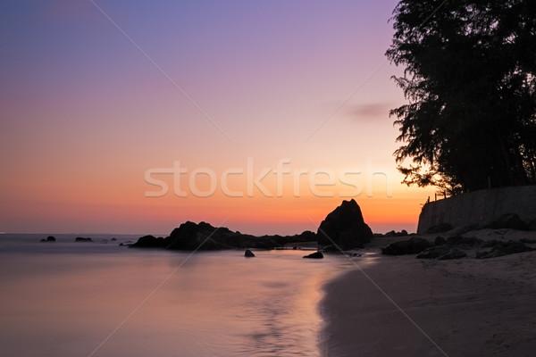 Vibrante pôr do sol praia Vietnã água natureza Foto stock © fisfra