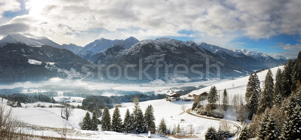 Panoramic view in Tyrol with Grossglockner, Austria Stock photo © fisfra