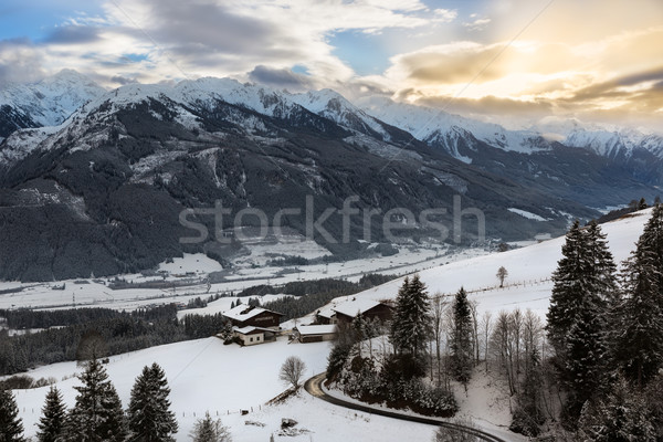 Alpine panorama in Tyrol at wintertime, Austria Stock photo © fisfra