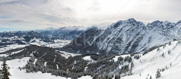 Panorama in Bavarian Alps, Berchtesgadener Land, Germany Stock photo © fisfra