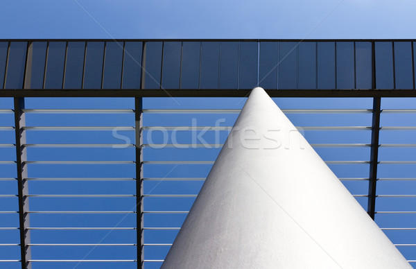 White column and roof made of steel with lights and shadows Stock photo © fisfra