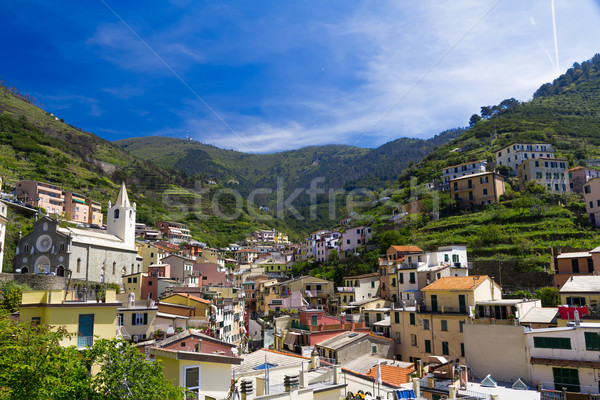 Village of Riomaggiore, Cinque Terre, Italy Stock photo © fisfra