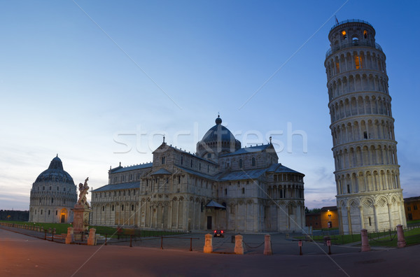 Piazza dei Miracoli at dusk, Pisa, Tuscany, Italy Stock photo © fisfra