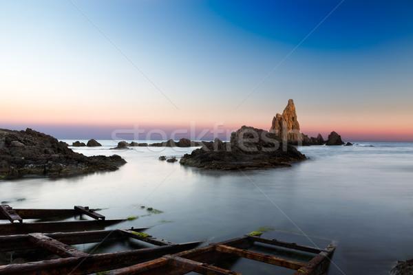 Sea after sunset at Cabo del Gata, Almeria, Spain Stock photo © fisfra