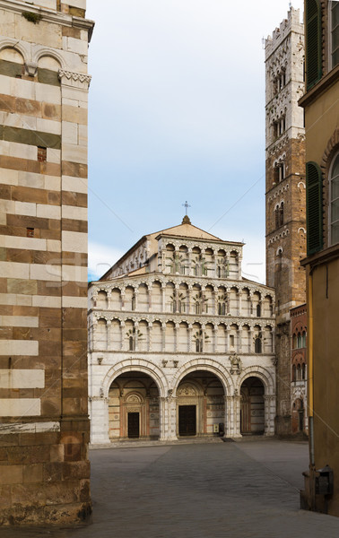 San Martino with piazza, Lucca, Tuscany, Italy Stock photo © fisfra
