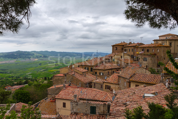 Volterra and view over Val d'Orcia, Tuscany, Italy Stock photo © fisfra