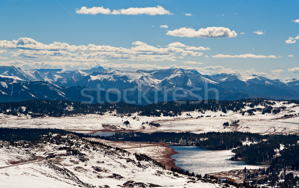 View from Beartooth Pass, close Yellowstone National Park, Montana, USA Stock photo © fisfra
