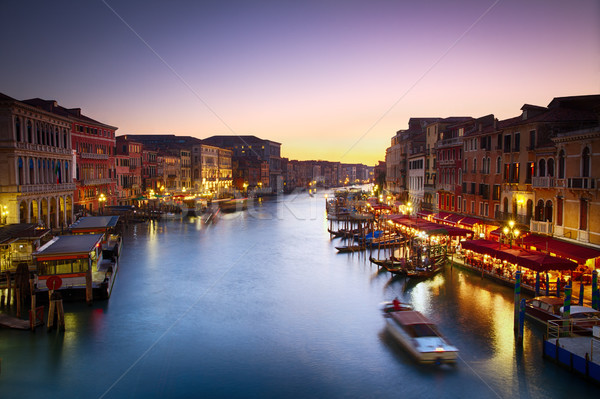 Canale Grande at dusk with vibrant sky, Venice, Italy Stock photo © fisfra