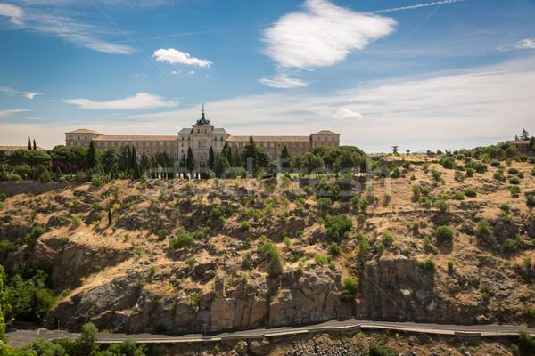 исторический здании Испания природы лет зеленый Сток-фото © fisfra