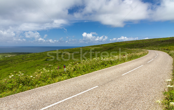 Stock photo: Winding road between Lands End and St. Ives, Cornwall, England