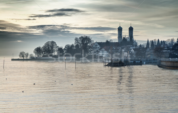 Bodensee (Lake Constance) with Schlosskirche (church) of Friedrichshafen, Germany Stock photo © fisfra