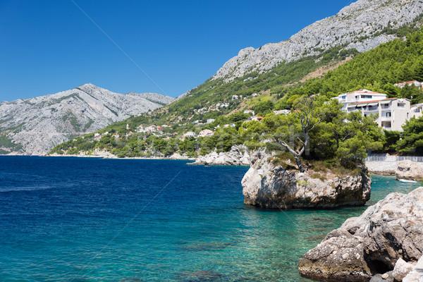 Tengerpart napos idő Horvátország utca tenger háttér Stock fotó © fisfra