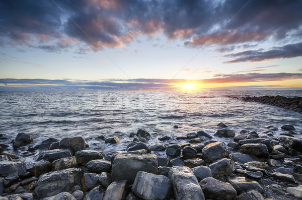 Rocky Beach Sunset Stock photo © flotsom