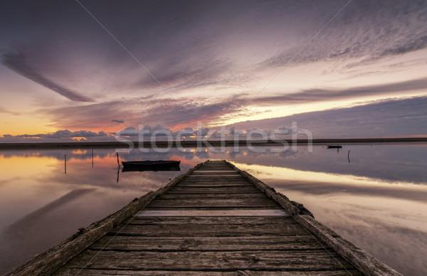 закат закат старые флот пляж Сток-фото © flotsom