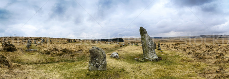 Scorhill Stone Circle on Dartmoor Stock photo © flotsom