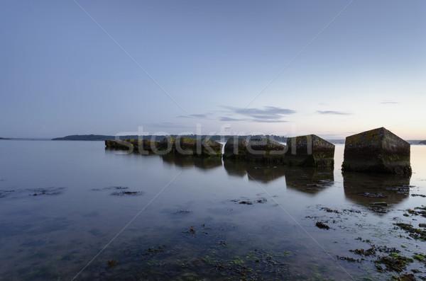 Tanque puerto playa mar océano arena Foto stock © flotsom