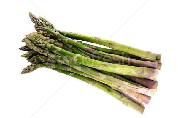 Fraîches asperges vert fond blanc Photo stock © flotsom