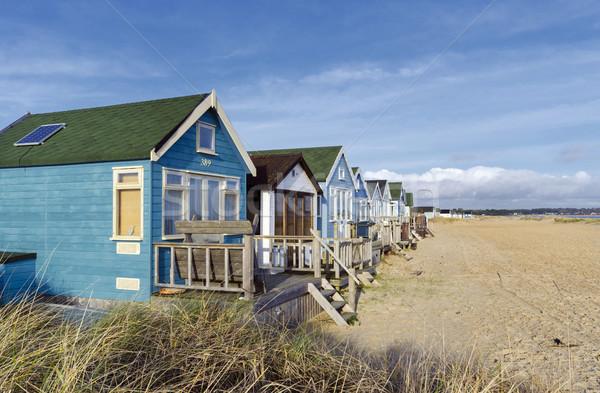 Vibráló luxus tengerpart nyárs hajók homok Stock fotó © flotsom